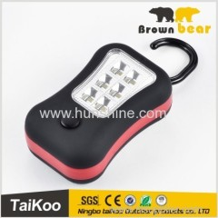 new style factory price 6+3 smd leds 3*AAA battery hid work light