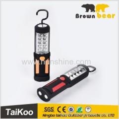new style factory price 10+1smd leds 3*AA battery 12v led work light