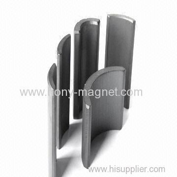 N45SH rare earth arc shape generator magnets