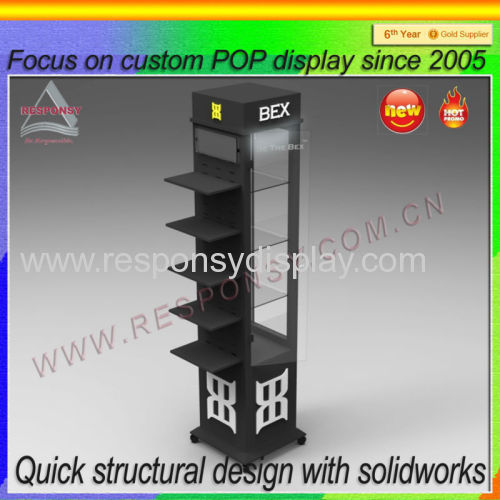 POP shopping mall floor sun-glass acrylic display/eyewear display showcase