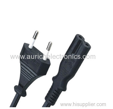 figure of eight with European two pin flat plug