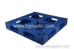 Grid Double Deck Plastic Pallet blue color