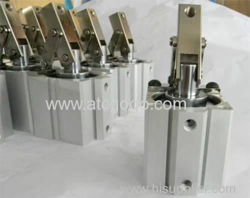 smc type pneumatic cylinder Rotary clamp air cylinders through-hole clockwise counterclockwise with arm