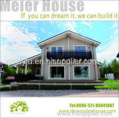 Contemporary design prefabricated house wooden villa