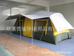 Outdoor camping tent Two rooms one hall