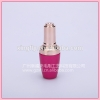 14ml hotsale nail polish bottle uv gel nail polish bottle empty glass nail oil bottle with golden circle cap and brus