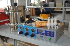 coating gun for powder wheel