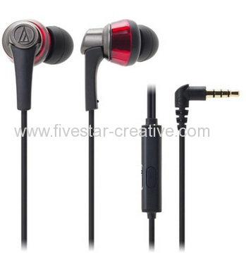 Audio-Technica SonicPro In-Ear Headphones Earbuds ATH-CKR5iS with Microphone for Smartphones