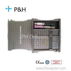 Orthopaedic Instrument OEM Sterile Box for Maxillofacial Sugery Mini Titanium Plate and Screw Box