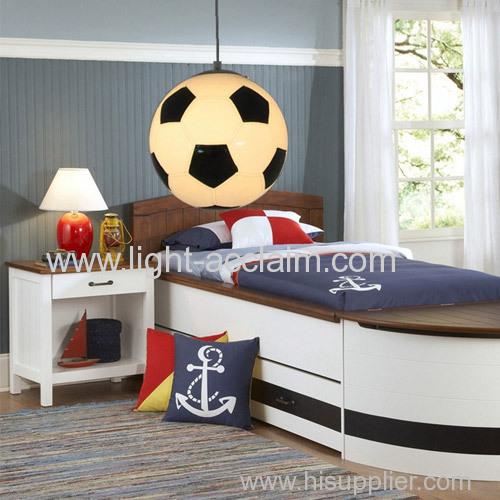Individual children lamp football glass chandelierscreative cartoon children bedroom Chandelier