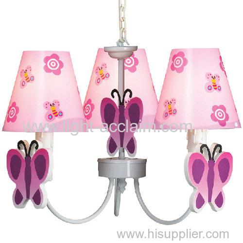 The butterfly children room lamps chandelier cartoon home Furnishing Chandelier