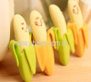 Skinning banana eraser with expression(2pcs)