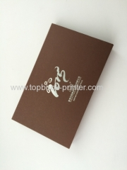 personalized silver stamping coil-bound table calendar with slipcase