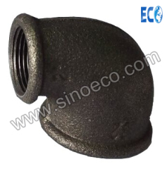 Malleable Iron Pipe Fittings Threaded Elbow Beaded 90 Degree Reducing