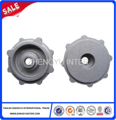 Precision pump cover casting parts factory QT235 metarial