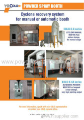 ideal fast color change powder spray booth
