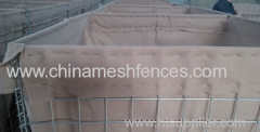 Sand Filled Hesco Blast Barrier Wall