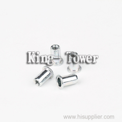 Flat head shoulder screw with spring nickel plated