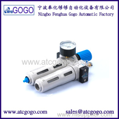 Air source treatment unit manual drain high quality filter pressure regulator lubricator 1 inch festo type