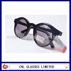 Round Len Thin Temple Fashion Handmade Polarized Sunglasses