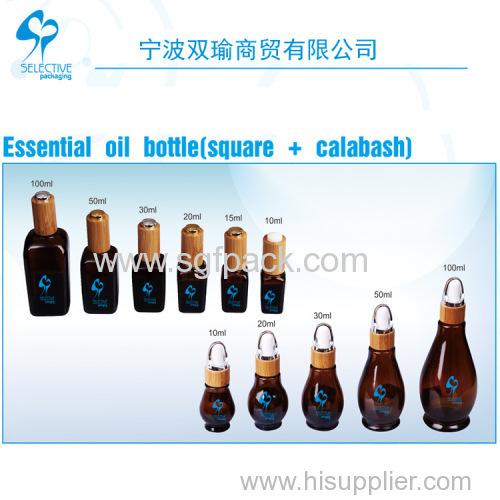 Essential Oil Bottle (Square + Calabash)