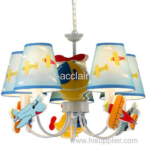 The bedroom Chandelier three children's cartoon aircraft chandelier Chandelier