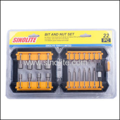 22.pcs: Magnetic nut set