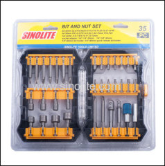 35pcs: Magnetic nut set