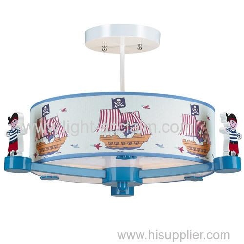 Lovely pirate ship pendant lighting Children bedroom Cartoon boy room