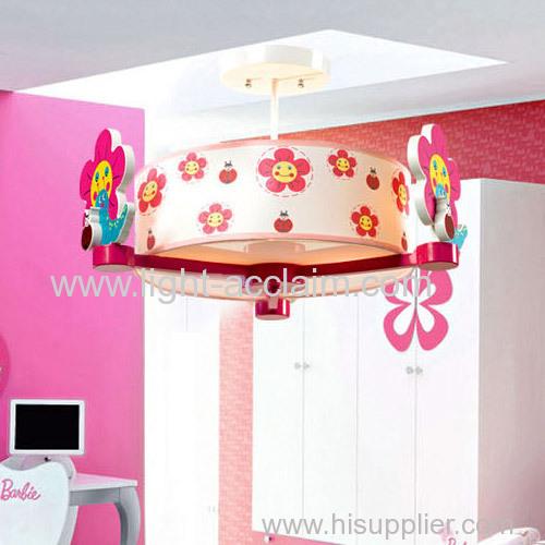 Flower design cartoon Chandelier cartoon ceiling lamp Light in the bedroom