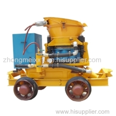 wet and dry type shotcrete machine for construction or mine
