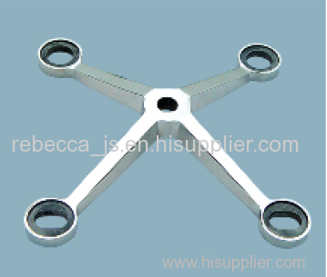 Stainless steel spider fitting for point-fixed glass curtain wall