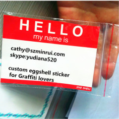 fragile labels with strong adhesive for graffiti writer