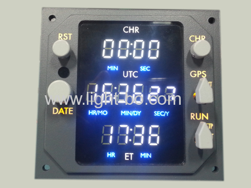 Ultra white 0.36inch 4-digit seven segment led display for clock indicator