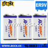 lithium 9v battery 1200mAh with 10 years life