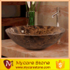 customized design dark emperador marble washing basin made in china