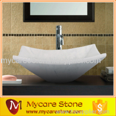 Quality approved carrara white marble vessel basin type vessel sink