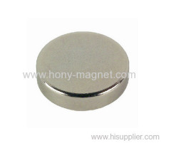 High quality manufacturer nickel plated disc neodymium magnet