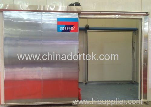 heavy duty stainless steel electrical sliding freezer doors