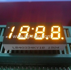 "yellow 0.33"" 7 segment; 4 digit amber led clock;"