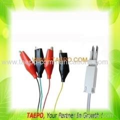 4-pole test cord test plug to alligator clip