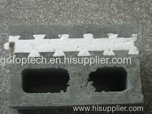 EPS expandable polytyrene Concrete block Brick Insert