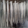 Galvanized ground screw pile foundation pipe fitting ground screw anchor