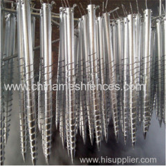 Spiral ground anchor rod helix post anchor Spiral screw piles