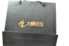 Custom designed black cotton rope gold stamping craft paper packaging bag
