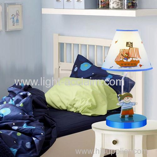 Fabric shade kids bedside lights Corsair children table lamp Creative reading lamp
