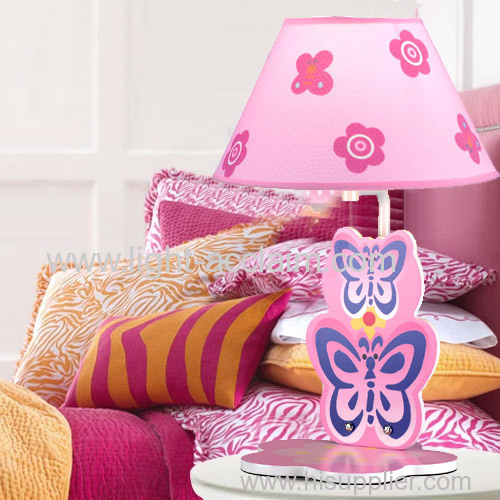Butterfly cloth shade lamp childrens bedside lamps childrens night lamps