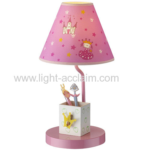 pink cloth lampshade childrens lighting children reading