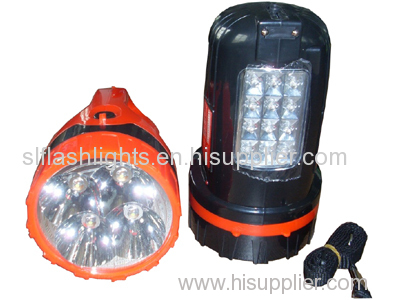 4LED plastic rechargeable hand lamp