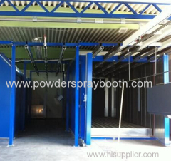 manual electrostatic powder coating line